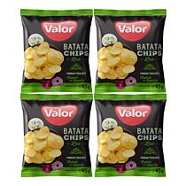 Kit 04 Batatas Chips Creme de Cebola Valor 45g