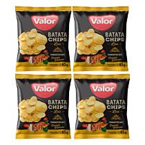 Kit 04 Batatas Chips Frango Grelhado Valor 45g