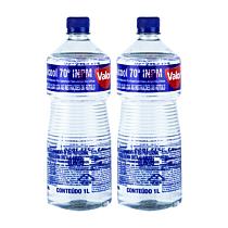 Kit 02 Álcool Valor 70º 1L